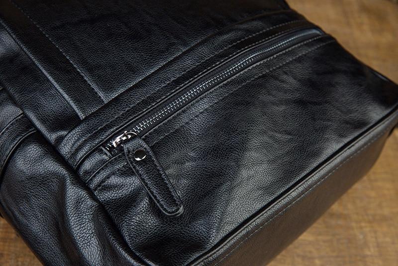 Aetoo mochila de couro artesanal, mochila de