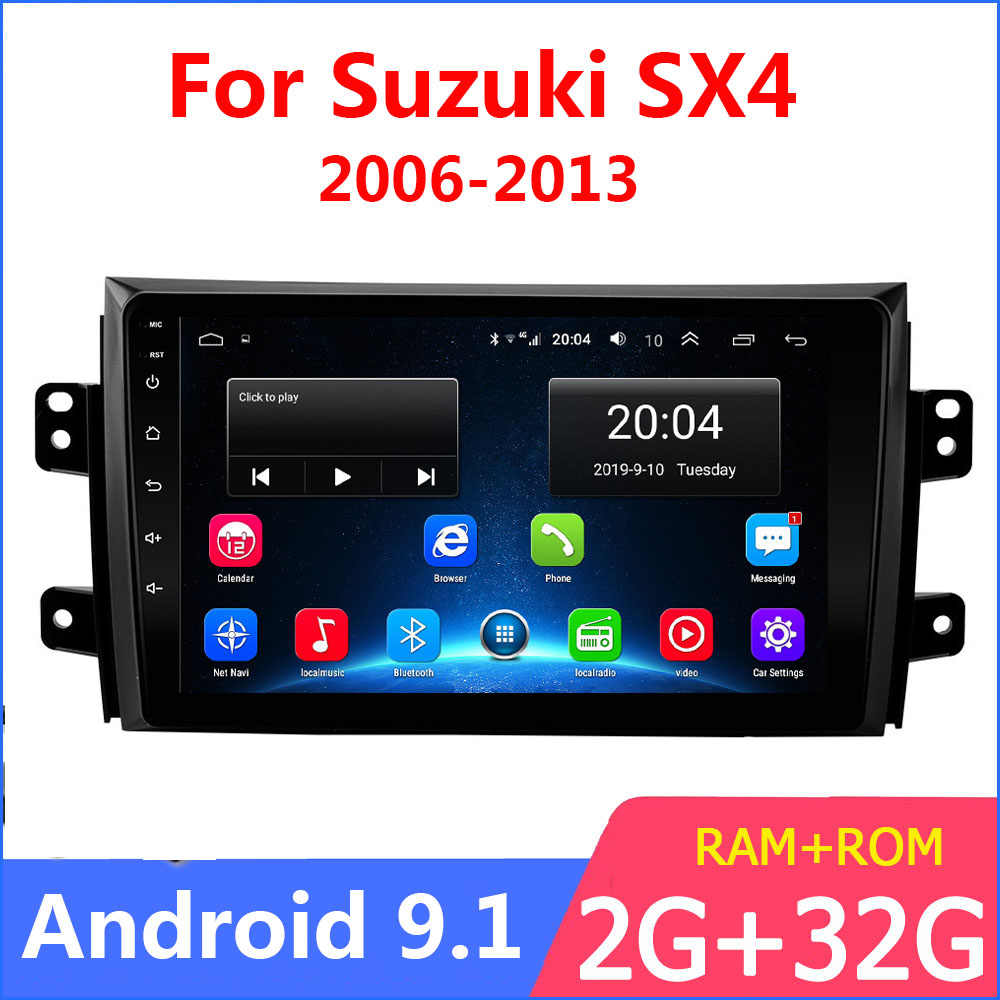 "9 ""2G + 32G Mobil Radio Pemutar Video Multimedia untuk Suzuki SX4 2006-2013 2 DIN android 9.1 Gps Navigasi Autoradio Bluetooth WIFI"