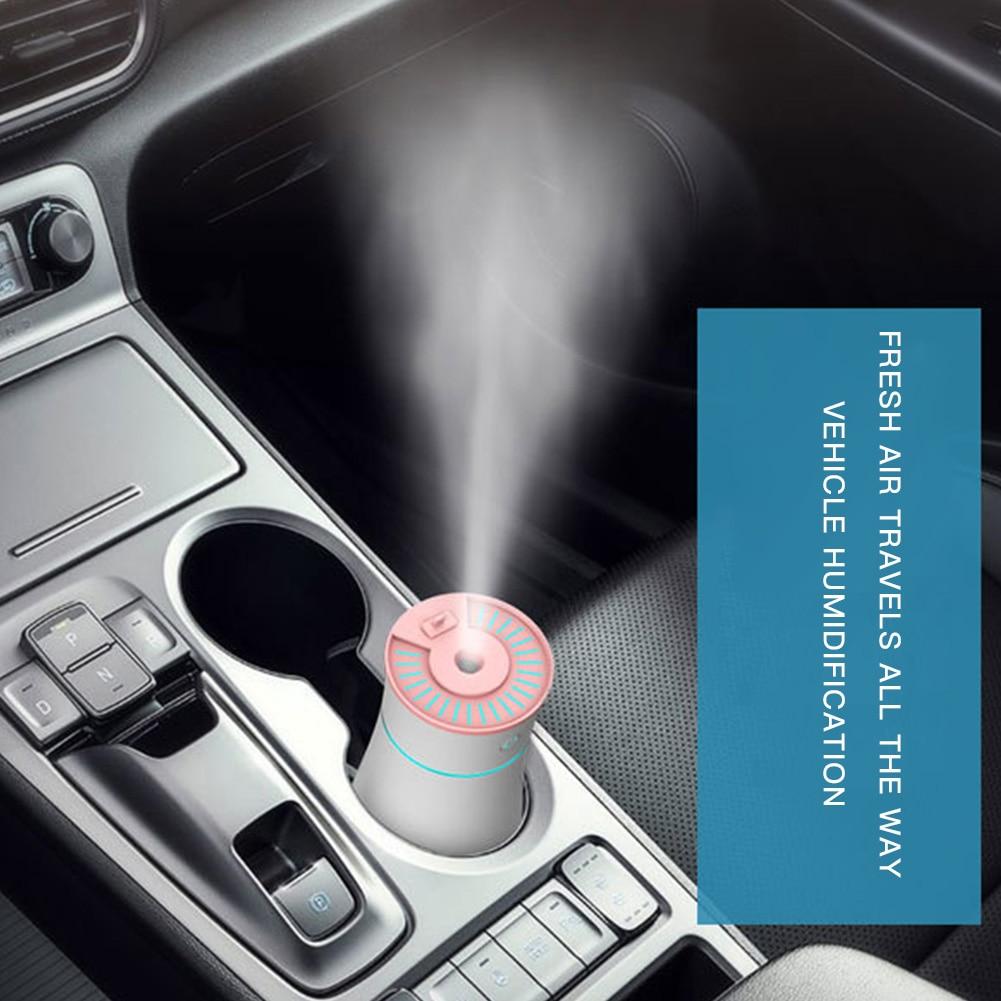 Car Air Purifier USB Portable Car Humidifier Mini Household Office USB Humidifier Air Cleaner Room Auto Humidifier Gray Pink