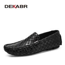 DEKABR nam Cao cấp Thời Trang Thoải Mái Loafer Lái Xe Giày Thuyền Thương Hiệu Đế Giày Casual Nam Lớn Size 38 ~ 47