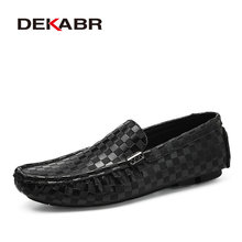 DEKABR yüksek kaliteli erkek ayakkabıları moda rahat mokasen sürüş ayakkabısı tekne marka daireler rahat ayakkabılar erkekler büyük boy 38 ~ 47