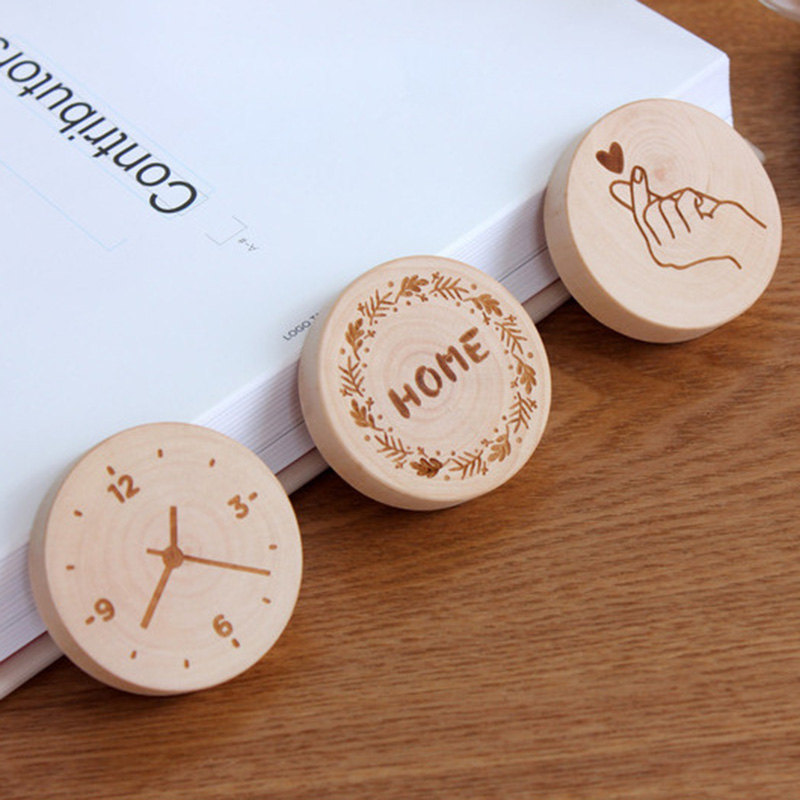 DIY Wooden Round Shape Bottle Opener Magnet Decoration Beer Bottle Opener Fridge Sticker XH8Z