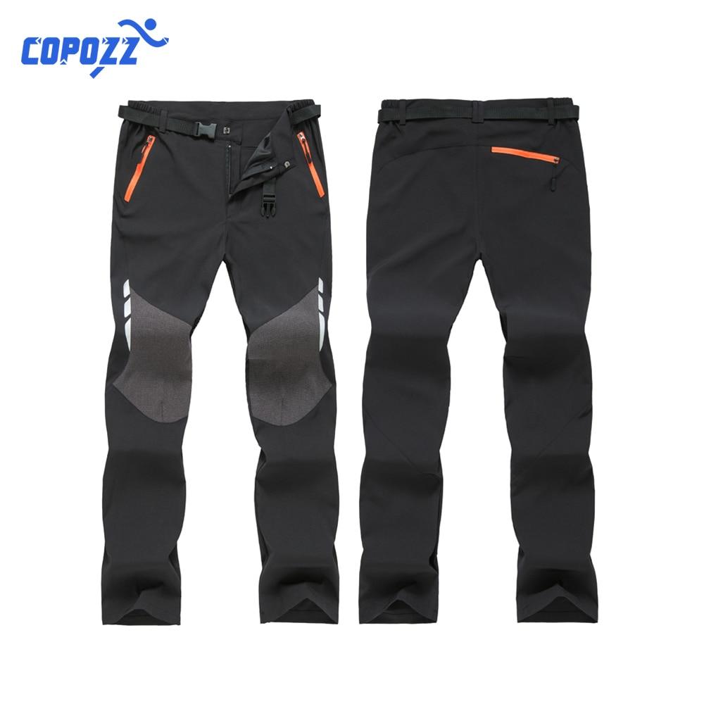 COPOZZ Oversized Men Thin Waterproof Outdoor Pants Soft Shell Trousers Camp Fish Trekking Climb Hiking Sport Travel Train