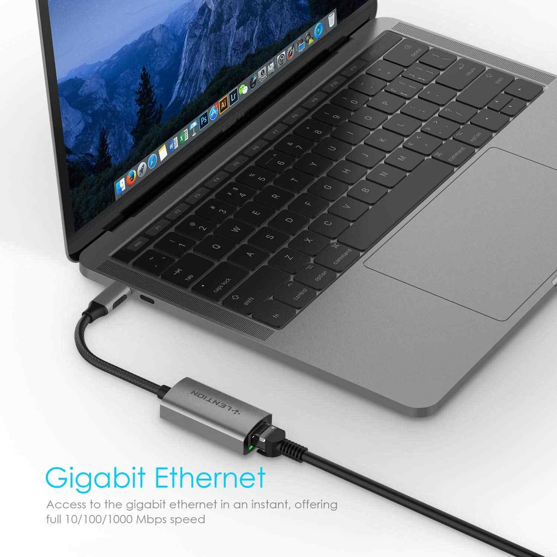 Adapter USB C na Gigabit Ethernet, 1000M Adapter sieciowy RJ45 kompatybilny MacBook Pro (Thunderbolt 3),2018 iPad Pro/Mac Air