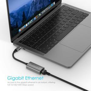 Image 4 - Usb C Naar Gigabit Ethernet Adapter, 1000M RJ45 Lan Netwerk Adapter Compatibel Macbook Pro (Thunderbolt 3),2018 Ipad Pro/Mac Air