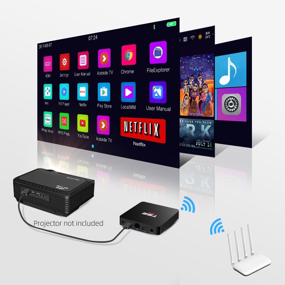 BYINTEK TV Box Android 10.0 ,2G+16G 2.4G WIFI, Media Player Netflix Hulu,Media player 4K Google Voice Assistant Youtube 4