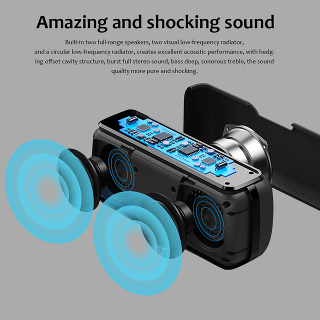 XDOBO X8 60W Portable Wireless Bluetooth Speakers TWS Bass with Subwoofer IPX5 Waterproof Connection distance 80m 15H Play time 2