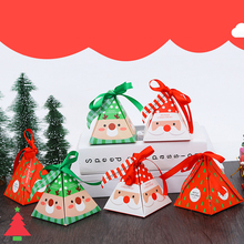 1pcs Christmas Candy Box Bag Tree Gift With Bells Paper Container Supplies Navidad  Party