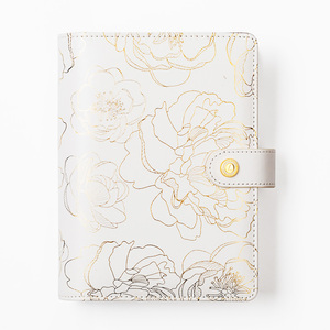 Image 2 - Foil Golden Floral Notebook and journals Daily book A5A6 Planner travelers notebook stationery store school supplies