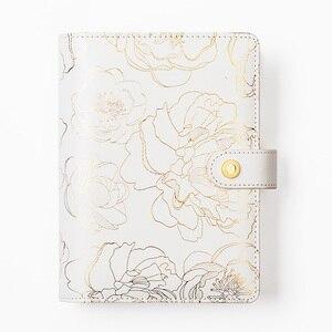 Image 2 - Folie Gouden Bloemen Notebook En Tijdschriften Dagelijkse Boek A5A6 Planner Traveler S Notebook Briefpapier Schoolbenodigdheden