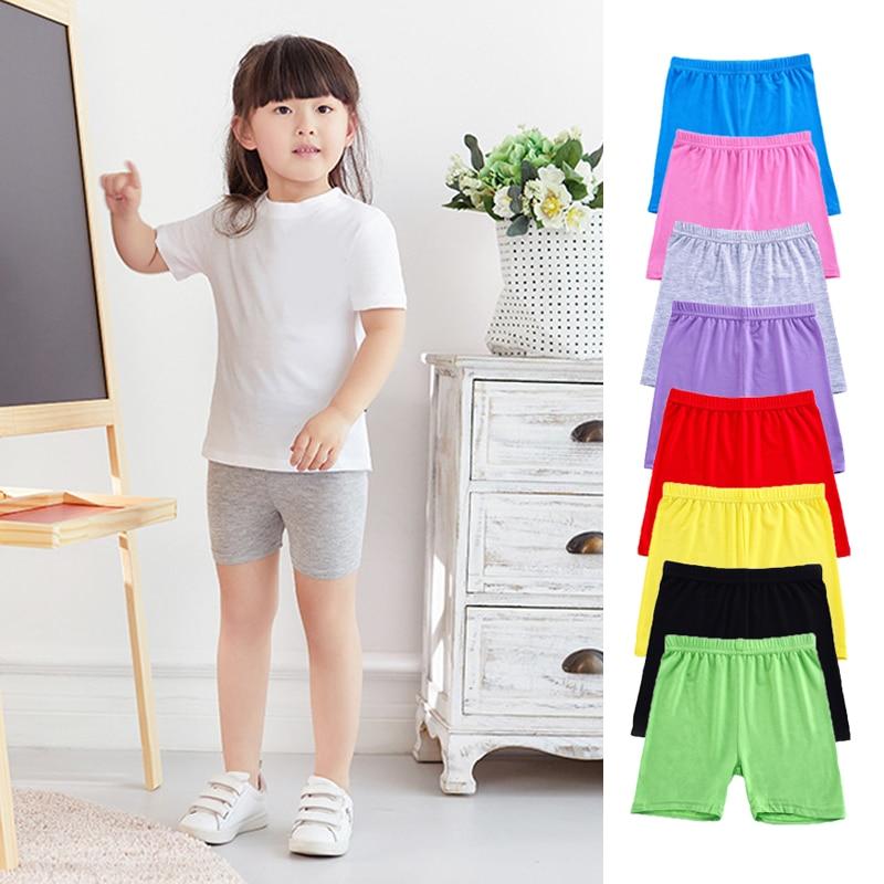 Новинка, красивые детские Цвет девочек шорты безопасности штаны нижнее бельё для девочек, леггинсы для девочек, детские трусы-боксеры корот...