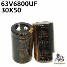 Condensateur 63v à monter soi-même, 6800uf, 6800uf, 1 pièce/lot, amplificateur de puissance audio, filtre audio 30x50