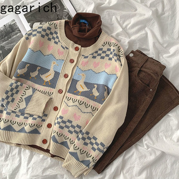 Gagarich Women Thick Sweater Ins Casual 2020 New Autumn Female Fashion Loose O-neck Long Sleeve Wear Cardigans 1