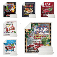 This Is My Hallmark Christmas Movie Watching Blanket Double Sided Thickening Blanket Super Soft Cozy Warm Plush Throws For Kids