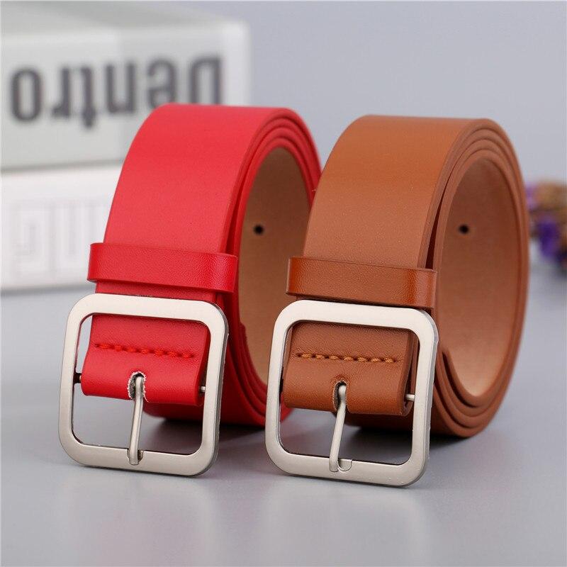 fashion buttons decorative belts cowhide belts Retro lady belts