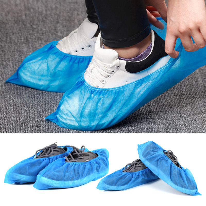 100pcs Non woven Boot Cover Disposable Shoe Covers Thicken Overshoes Non Slip DIN889|Shoe Covers| |  - title=