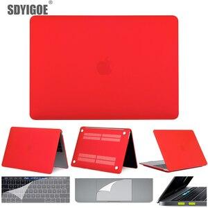 Для macbook air 13 pro 13 Retina чехол для ноутбука capa для macbook air 16 A2141 A2159 A1990 A1932 A2179A1708 матовый защитный чехол