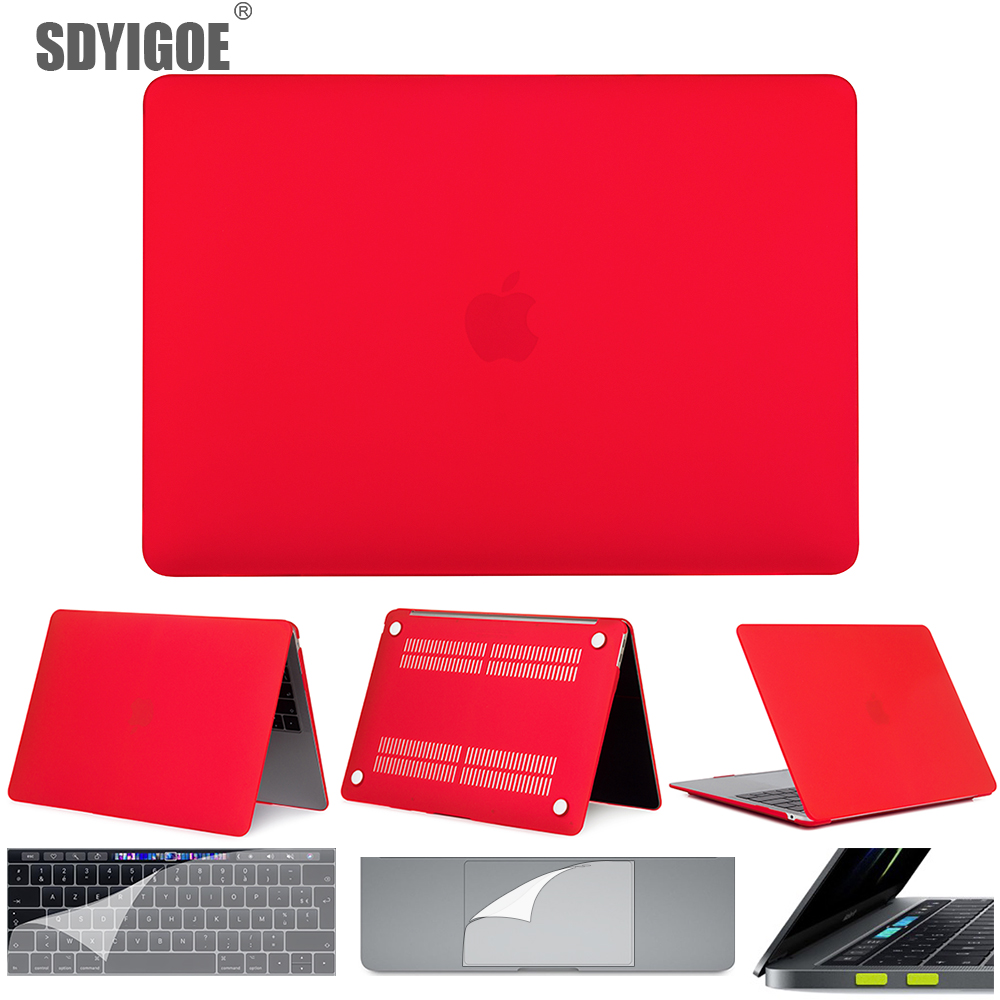 For macbook air 13 pro 13 Retina laptop case capa For macbook air 16 A2141 A2159 A1990 A1932 A1502 A1708 Matte protective shell