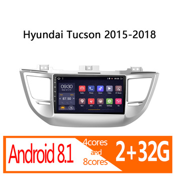 1din Android 2G RAM 32G ROM autoradio for Hyundai Tucson 2015 2016 2017 2018 car radio coche audio auto stereo vehicle player image
