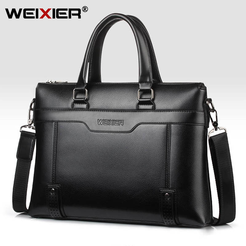 Business Men's Briefcase Bag PU Leather Handbag For Men Shoulder Bags Large Man Briefcases For 14
