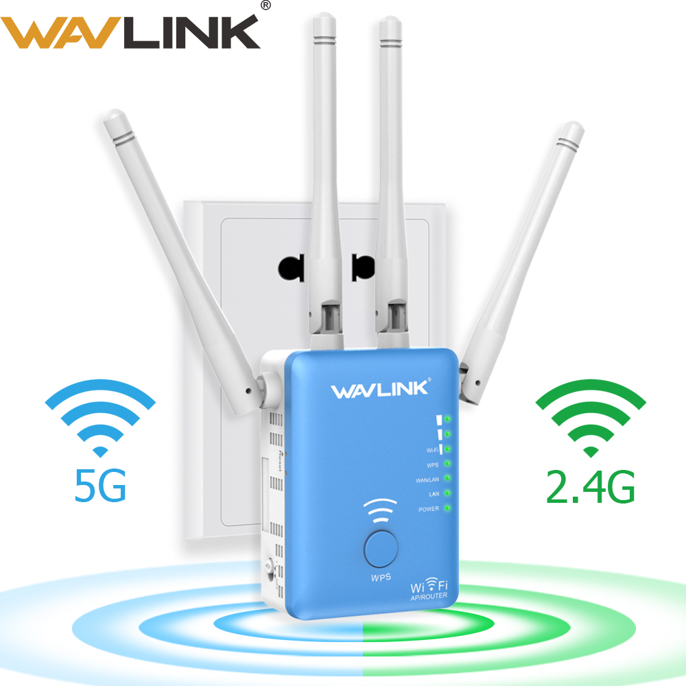 Wavlink Wireless Wifi Repeater/Router 1200mbps 2.4G&5G Dual Band Wifi Signal Amplifier AP Signal Booster Network Range Extender