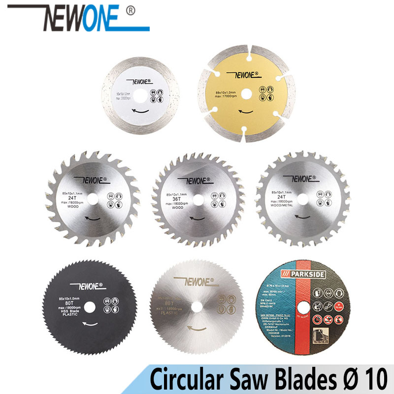 NEWONE Circular Saw Blade Cutting Disc For Wood/Metal/Plastic HSS Carbide Diamond Resin Blade Cutter Circular Mini Saw Blades