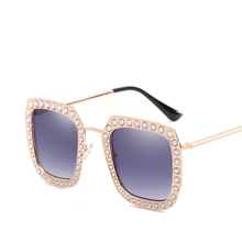 Will Diamond Frame Bound Feet Sunglasses Trend Maam Special-purpose Nervous Sample Personality Sunshade Mirror