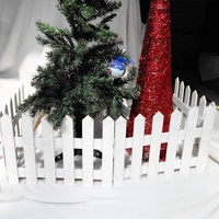 Christmas Decorations Wooden Fence Christmas Tree Fence White Event Venue Layout Decoration Festive Atmosphere for Home Bars A