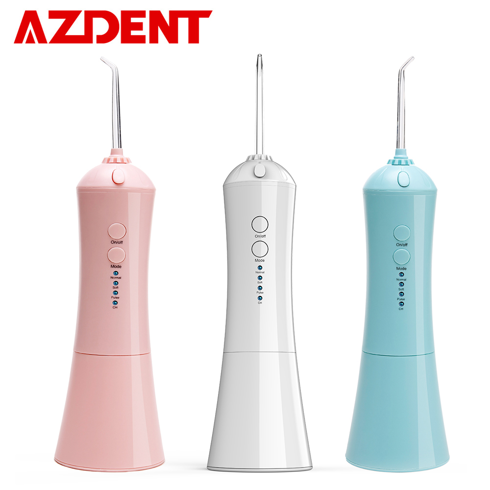 AZDENT Water-Jet-Flosser Irrigation Tongue-Cleaner Cordless Portable USB 3 3-Mode 230ml