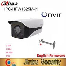 Dahua 3MP IP Kamera IPC HFW1325M I1 H.264 IP67 ONVIF IR 50M Überwachung Netzwerk Dome Kamera 3DNR Tag/Nacht