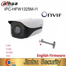 Dahua 3MP IP caméra IPC HFW1325M I1 H.264 IP67 ONVIF IR 50M Surveillance réseau dôme caméra 3DNR jour/nuit