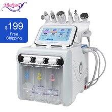 Machine Portable 6 en 1 pour soins de la peau par Hydro-Dermabrasion, appareil de beauté à Jet d'eau et d'oxygène, Peeling au diamant
