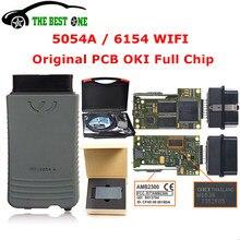 Original oki 5054a v5.1.6 bluetooth amb2300 6154 wifi 5054 chip completo suporte uds 6154a 5.1.6 ferramenta de diagnóstico do carro frete grátis