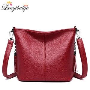 Image 1 - Женские ручные сумки через плечо для женщин 2020 роскошные сумки женские кожаные сумки через плечо сумка тоут дизайнерская женская сумка bolsa feminina