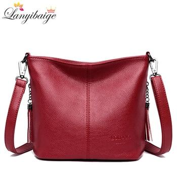 Дамски ръчни чанти през тялото за дами луксозни чанти кожена чанта през рамо