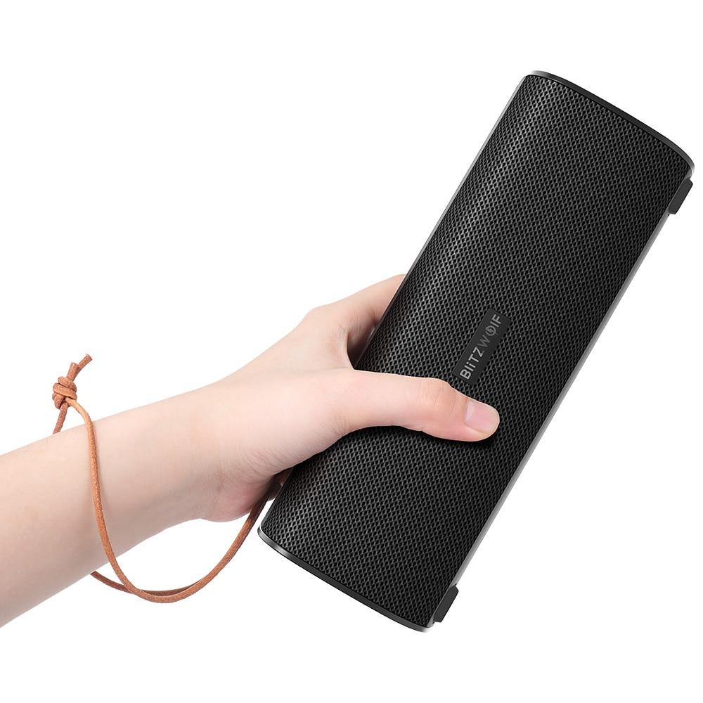 BlitzWolf BW WA2 20W sans fil bluetooth haut parleur double diaphragme passif TWS NFC basse stéréo étanche extérieur barre de son Micphone    2
