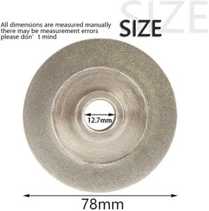 78mm Diamant Schleifen Rad Galvanik 45 Grad/parallel Winkel Cutter Grinder Schleifen Disc für Schleifen