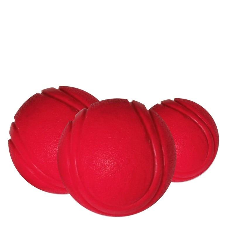 Тренировочная жевательная игрушка для домашних животных, Нетоксичная твердая натуральная резина, мяч для прыжков для собак и кошек, маленький размер-0