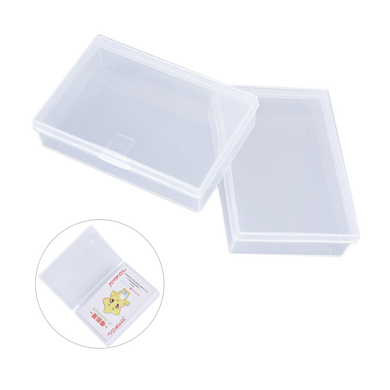2pcs Transparent Plastic Boxes Playing Cards Container Plastic Storage Case Packing Poker Game Card Box For Pokers Set Wholesale