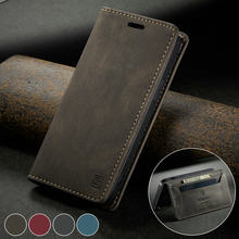Caseme 2020 caso da aleta para o iphone 12 min retro magnética carteira para o iphone 11 pro x s max 6 7 8 plus se cartão suporte de couro caso