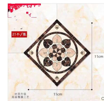 1 Set (21pcs) Self adhesive Tile Decorative Sticker Floor Waterproof Diagonal Sticker living room Tile Decoration Wall Decals 28