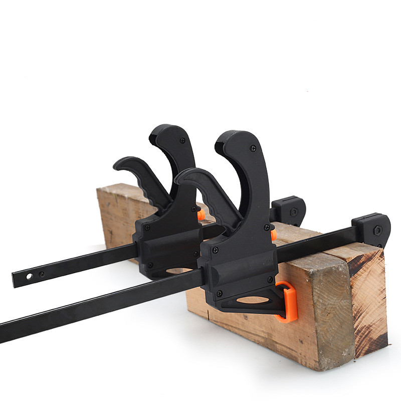 1pc 4 Inch Clip Quick Ratchet Release Speed Squeeze Wood Working Work Bar F Clamp Clip Kit Spreader Gadget Tools DIY Hand Tool
