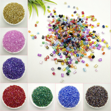 10G/lot 2MM Cylindrical Round Czech Glass Beads Colorful Seed Spacer Loose Beads For Jewelry Making DIY Accessories Wholesale 1020pcs lot 2mm czech cylindrical glass tube bugle beads diy bracelet necklace loose beads for jewelry making accessories