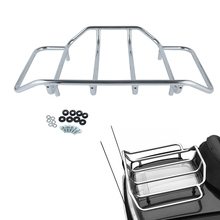 Motorcycle Tour Pack Chrome Luggage Rack For Harley Touring Road Glide Road King  Street Glide FLTRX Electra Glide CVO 1984-2018