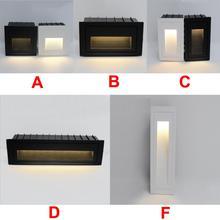 Водонепроницаемый 3 Вт 5 Вт светодиодный ступенчатый светильник IP65 Алюминиевый встроенный лестничный угловой светильник для помещений и улицы встраиваемый настенный лестничный светильник