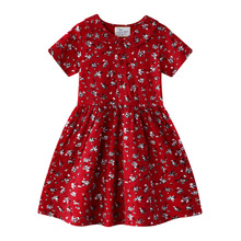 Girls Summer Dress 2020 Baby Girl Clothes Kids Dresses for Girls Costume Flower Pattern Cotton Princess Dress Children Clothing baby girls bow dress summer clothes for kids girls dress girl princess party dress 2017 new arrival children clothing