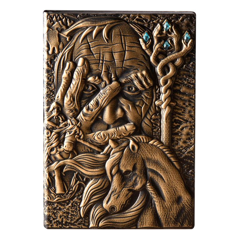Creative The Magic Embossed A5 Leather Notebook Journal Notepad Travel Diary Planner Book School Office Supplies