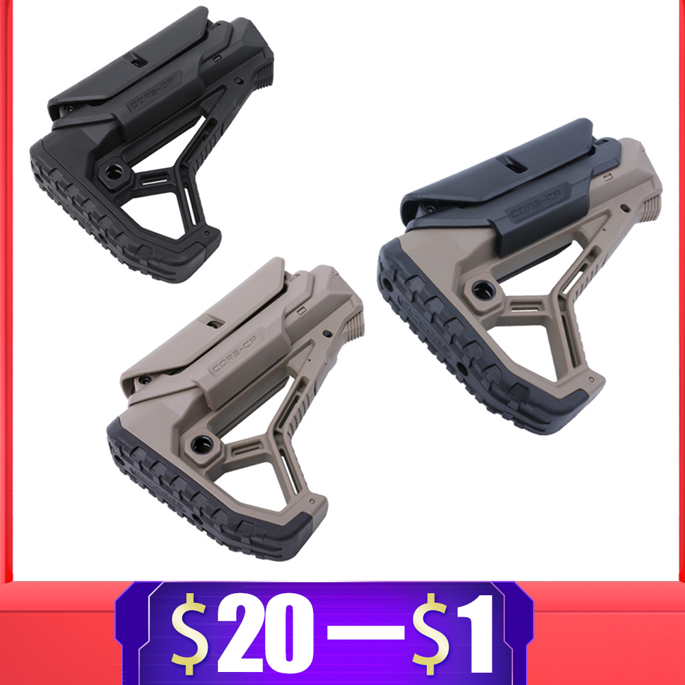 Tactical Nylon Adjustable Extended Stock For Air Guns CS Sport Paintball Airsoft BD556 M4 JinMing Gel Blaster Receiver Gearbox