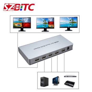 SZBITC HDMI 4x1Quad Multi-Viewer Seamless Switching HDMI Switcher 4 HD digital video signal to 1 screen 1080p for PC PS3 DVD STB