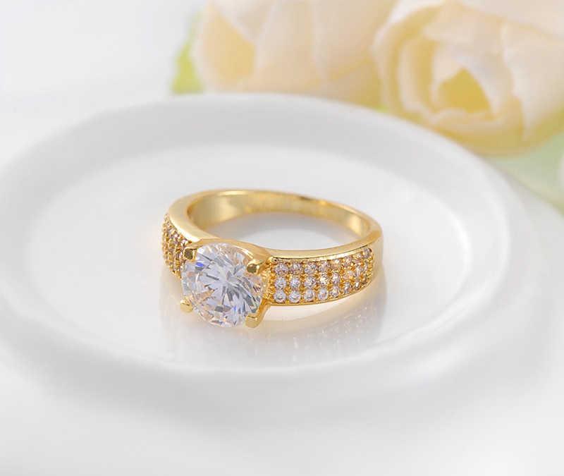 YANHUI 100% Originale 925 Solido Argento Anelli Per Le Donne 2.0ct Naturale Zirconia Diamante Oro Puro di Colore Anelli di Cerimonia Nuziale Dei Monili Della Sposa
